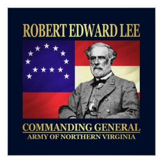 Robert E Lee (Commanding General) Poster