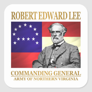 Robert E Lee (Commanding General) Square Sticker