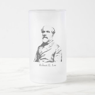 Robert E. Lee - Confederate Hero Frosted Glass Beer Mug