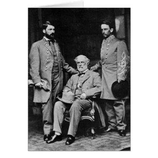 Robert E. Lee General Custis Lee Col. Taylor 1865 Card
