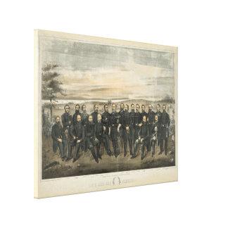 Robert E. Lee & his Civil War Confederate Generals Canvas Print