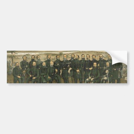Robert E. Lee & his Civil War Confederate Generals Car Bumper Sticker