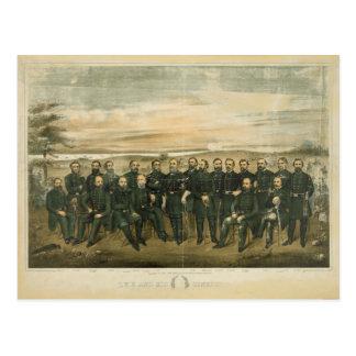 Robert E. Lee & his Civil War Confederate Generals Postcard