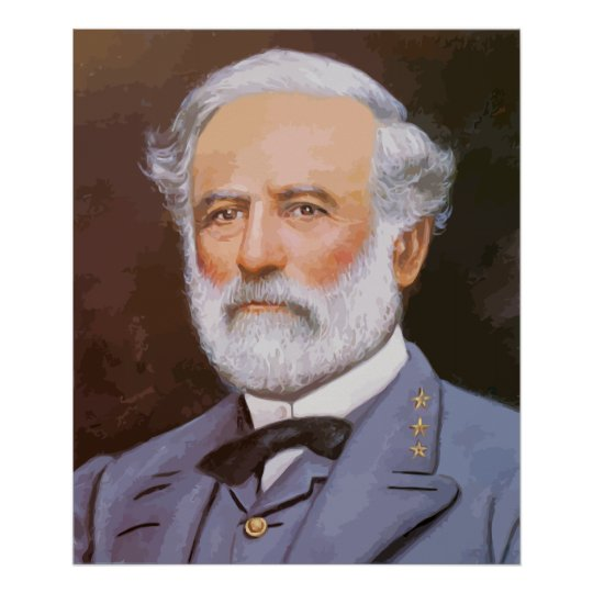 Robert E. Lee Painting Poster | Zazzle.com