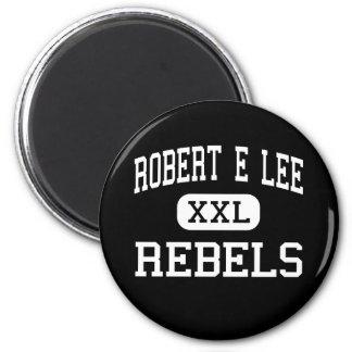 Robert E Lee - rebeldes - alto - Midland Tejas Imán Para Frigorifico