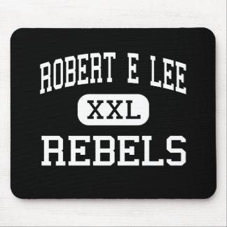 Robert E Lee - rebeldes - alto - Midland Tejas Alfombrillas De Ratón