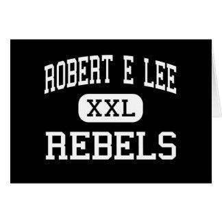 Robert E Lee - rebeldes - alto - Midland Tejas Tarjeta