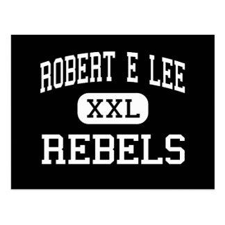 Robert E Lee - rebeldes - alto - Midland Tejas Tarjetas Postales