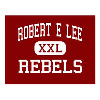 Robert E Lee - Rebels - High - Baton Rouge Postcard