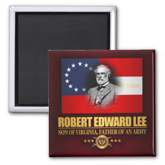 Robert E Lee (Southern Patriot) 2 Inch Square Magnet