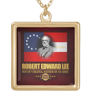 Robert E Lee (Southern Patriot) Gold Plated Necklace