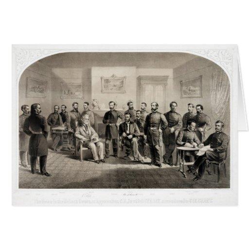 Robert E. Lee Surrenders to Ulysses S. Grant Card