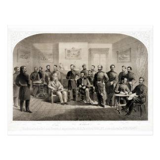 Robert E. Lee Surrenders to Ulysses S. Grant Postcard