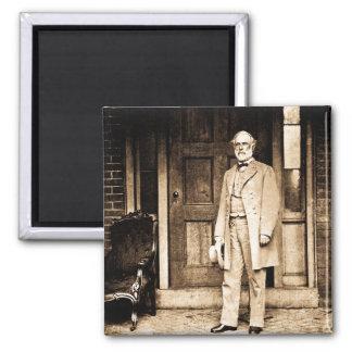 Robert E. Lee - Vintage Mathew Brady 2 Inch Square Magnet
