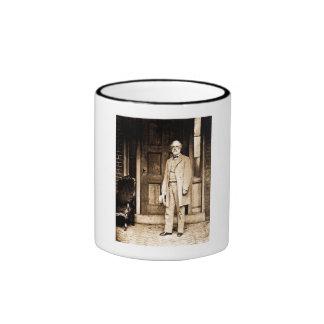 Robert E. Lee Vintage Mathew Brady Ringer Coffee Mug