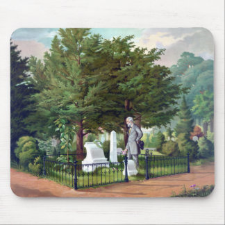 Robert E. Lee Visits Stonewall Jackson's Grave Mouse Pad