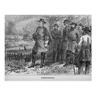 Robert E. Lee with his Soldiers at Fredericksburg Postcard