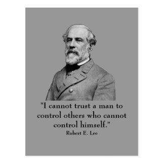 Robert E Lee y cita Tarjeta Postal