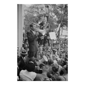 Robert F. Kennedy at CORE rally speech Posters