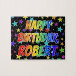 "[ Thumbnail: ""Robert"" First Name, Fun ""Happy Birthday"" Jigsaw Puzzle ]"