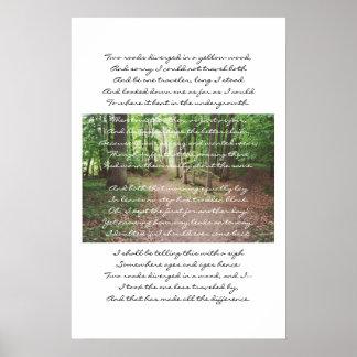 Robert Frost - el camino no tomado Posters