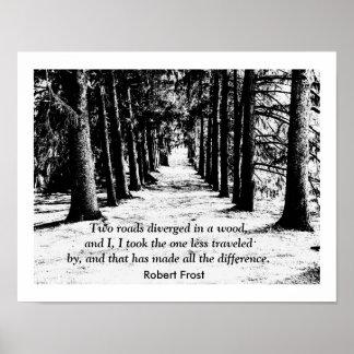 Robert Frost - impresión de la cita Posters
