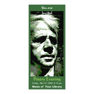 """Robert Frost Invitación 4"""" X 9.25"""""""
