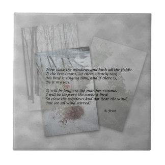 Robert Frost poetry Ceramic Tile