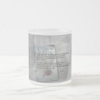 Robert Frost poetry Frosted Glass Coffee Mug