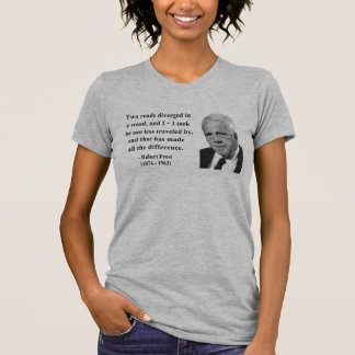 Robert Frost Quote 1b T-shirts
