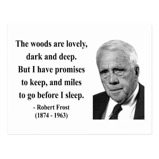 Robert Frost Quote 2b Postcard