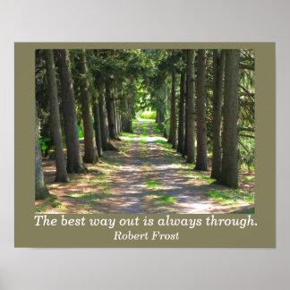 Robert Frost quote - art print