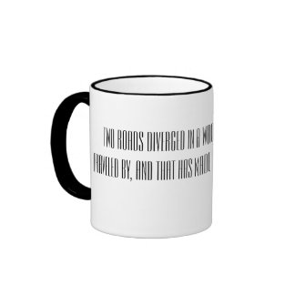 Robert Frost Quote Black and White Mug