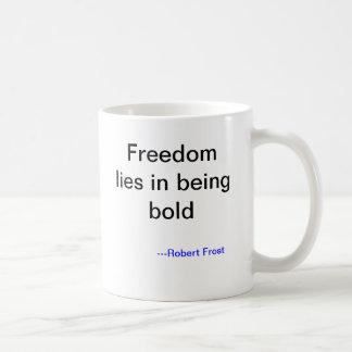 Robert Frost Risk Taking Mug