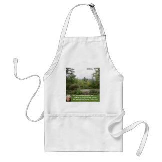 """Robert Frost Wisdom Quote """"Road Less Traveled"""" Adult Apron"""
