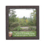 "Robert Frost Wisdom Quote ""Road Less Traveled"" Premium Jewelry Boxes"