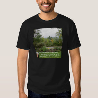 "Robert Frost Wisdom Quote ""Road Less Traveled"" T-Shirt"