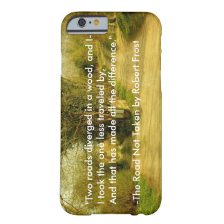 "Robert Frost's ""The Road Not Taken"" iPhone 6 case"