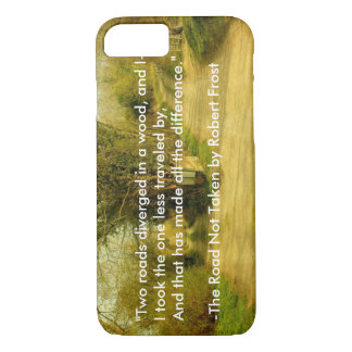 "Robert Frost's ""The Road Not Taken"" iPhone 7 case"