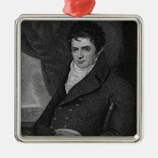Robert Fulton (1765-1815), engraved by George Park Metal Ornament