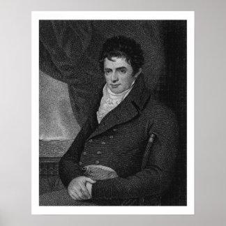 Robert Fulton (1765-1815), grabado por el parque d Poster