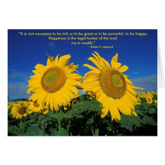 Robert G. Ingersoll Greeting Card (Blank Inside)