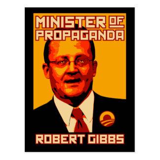 Robert Gibbs Minister of Propaganda Postcard