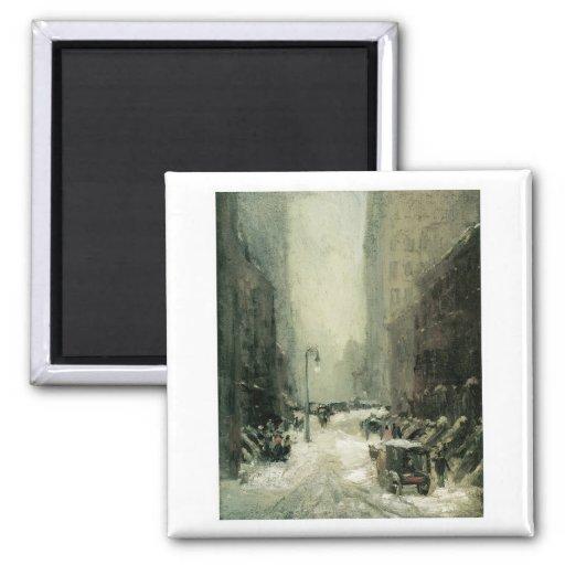 Robert Henri, nieve en Nueva York Imán Cuadrado