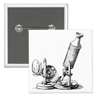 Robert Hooke's Microscope 2 Inch Square Button
