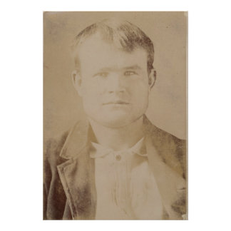 Robert LeRoy Parker alias Butch Cassidy Portrait Print