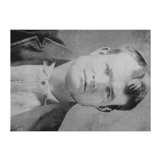 "Robert LeRoy Parker ""Butch Cassidy"" Portrait Stretched Canvas Prints"