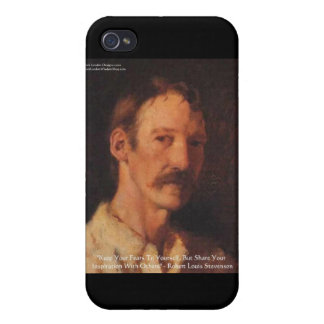 Robert Lewis Stevenson Quote iPhone 4 Case