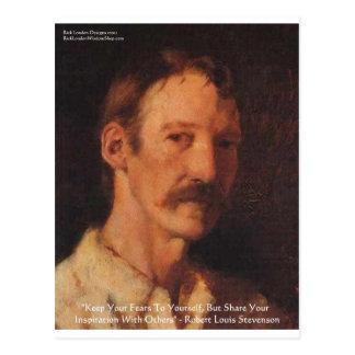Robert Lewis Stevenson Quote Postcard