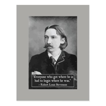 wordstolivebydesign Robert Louis Stevenson achievement quote postcard